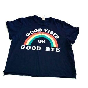 Good Vibes Only Graphic Crop Top